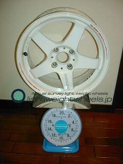 MAZDA SPEED MS-01S 15inch 6.5J offset+35mm PCD100mm-4H重量計測画像