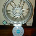 ENKEI Racing RPF1 17inch 8J offset+45mm PCD114.3mm-5H重量 計測画像