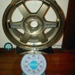 RAYS VOLK Racing TE37 15inch 6.5J offset+39mm PCD100mm-4H重量計測画像