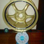 YOKOHAMA ADVAN Racing RG17inch 7.5J offset+45mm PCD100mm-5H 重量計測画像