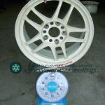 RACING HART CP-035 16inch 7J offset+45mm pcd114.3mm5H重量計測画像