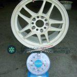 RACING HART CP-035 16inch 7J offset+45mm pcd114.3mm5H重量計測画像