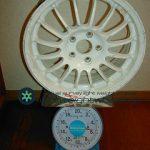 SPRINT HART CP-FG 15inch 6.5K offset+42mmPCD1005h重量計測画像