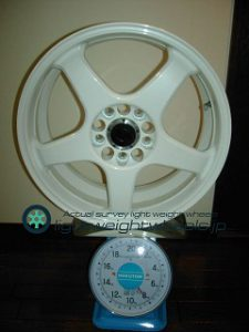 ENKEI Racing LINE RC-5 17inch7J+offset45mmPCD114mm5h重量計測画像