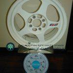 DESMOND RegaMasterEVO 15inch 6.5J offset+35mm pcd100mm-4H 重量計測画像