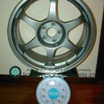 SSR TYPE C RACE 17inch 7.5J offset+32mm PCD98mm-5H重量計測画像