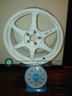 SSR TYPE C 17inch 8J offset+48mm PCD100mm-5H 重量計測画像
