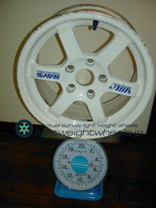 RAYS VOLK Racing TE37 15inch7.5Joffset+25mmPCD114.3mm-5H重量計測画像