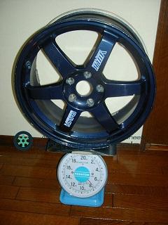 RAYS VOLK Racing TE37 18inch 7.5J offset+48mm PCD114.3mm-5H 重量計測画像