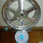 RAYS VOLK Racing GT-P 17inch8Joffset+35mmPCD114.3mm5H重量計測画像