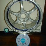 ADVAN Racing RG 17inch 7.5J offset+45mm PCD114.3mm-5h重量計測画像