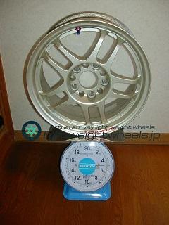 HART CP035 15inch 7j offset+34mm 114.3mm 5h重量計測画像