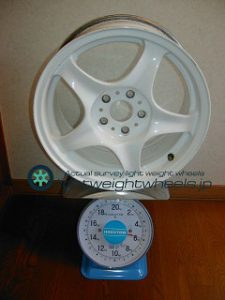 Prodrive GC05dt 15inch 7j offset+43mm PCD100mm5h重量計測画像