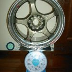 Racing hart cp-f tune R 17inch 8J offset+34mm pcd114.3mm-5h重量計測画像