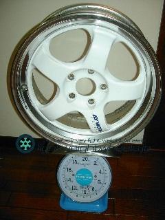 WORK meisters1 17inch 7J offset+31mm 114.3mm-5h重量計測画像