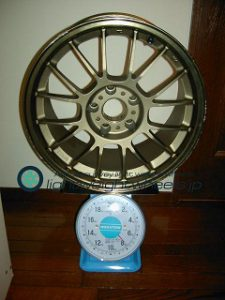 RAYS VOLK Racing se37K 17inch 9.5j offset+40mm pcd114.3mm-5h重量計測画像