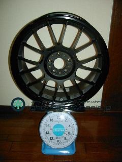RAYS VOLK Racing se37k 17inch 7.5j offset+48mm PCD100mm-5H重量計測結果