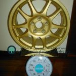 STI GDB impreza wheel for gravel rally 15inch 6.5J offset+49mm pcd100-5h重量計測画像