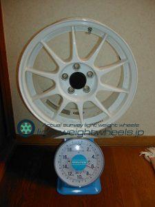 ENKEI SPORT ES-TARMAC 16inch 7J offset+45mm PCD100mm-5H重量計測画像