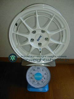 ENKEI NT-03 16inch 7J offset+43mm PCD114.3mm-5h重量計測画像