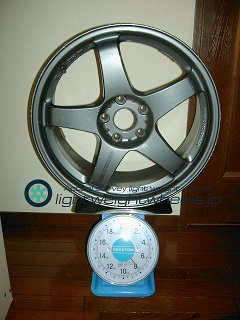 MAZDA SPEED MS-01S 18inch 8J offset+40mm PCD114.3mm-5H重量計測画像