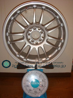 rays volk racing re30 17inch 7 5j offset 50mm pcd100mm 5h 重量計測