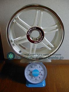 SPARCO Racing Viper-R 17inch 7J offset+45mm PCD100mm-5h重量計測画像