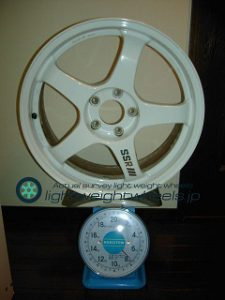 SSR INTEGRAL GT2 18inch 7.5J offset+40mm PCD114.3mm-5H重量計測画像