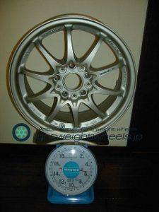 RAYS VOLK Racing CE28N 16inch 7J offset+48mm pcd114.3mm-5H 重量計測画像
