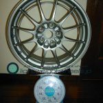ENKEI Racing NT03+m 18inch 7.5J offset+42mm PCD114.3mm-5H重量計測画像