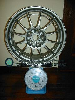 ENKEI Racing NT03+m 18inch 7.5J offset+42mm PCD114.3mm-5H重量計測画像