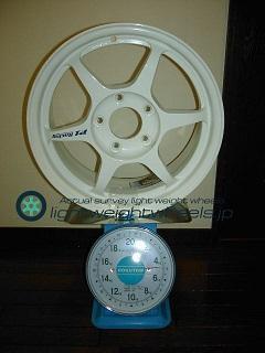 Buddy club P1 Racing QF 15inch 7J offset+42mm PCD114.3mm-5H重量計測画像