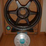 Buddy club P1 Racing QF 16inch 7J offset+45mm PCD114.3mm-5H重量計測画像