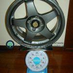 RALLIART Evolution R-01 16inch 7J offset+40mm PCD100mm-4H重量計測画像
