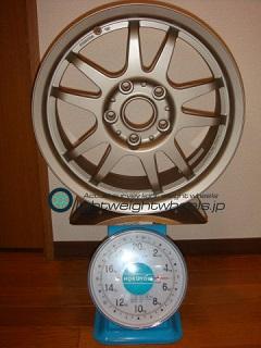 DUNLOP DIREZZA RZF 15inch 6.5J offset+35mm PCD114.3mm-5H 重量計測画像
