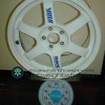 RAYS VOLK Racing TE37 16inch 7.5J offset+46mm PCD100mm-5H 重量計測画像