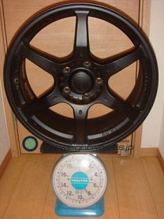 RAYS VOLK Racing G2 18inch 8J offset+45mm PCD120mm-5H 重量計測画像