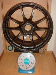 YOKOHAMA ADVAN Racing RZ 18inch 8J offset+45mm PCD120mm-5H 重量計測画像