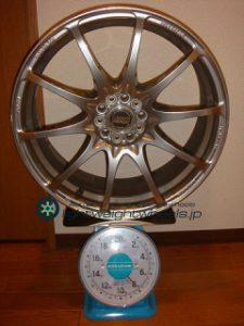 RAYS VOLK Racing CE28NF 18inch 7.5J offset+50mm PCD100mm-5H 重量計測画像