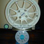 ENKEI Racing NT03 16inch 7J offset+43mm PCD114.3mm-4H 重量計測画像