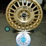 OZ Racing RALLY RAID 16inch 7J offset+48mm PCD100mm-5H 重量計測画像