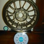 RAYS VOLK Racing SE37K 16inch 7J offset+42mm PCD114.3mm-4H 重量計測画像