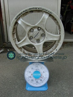 YOKOHAMA ADVAN Racing RC 15inch 6.5J offset+45mm PCD100mm-5H 重量計測画像