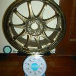 RAYS VOLK Racing CE28N 17inch 7.5J offset+43mm PCD100mm-5H 重量計測画像