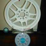TAKECHI PROJECT RACING HART CP-035G 15inch 6.5J offset+40mm PCD100mm-5H重量計測画像