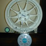 ENKEI Racing NT03 17inch 8J offset+35mm PCD114.3mm-5H 重量計測画像