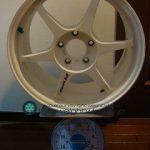 Buddy club P1 Racing QF 17inch 8J offset+45mm PCD114.3mm-5H 重量計測画像