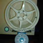 Buddy club P1 Racing QF 17inch 9J offset+35mm PCD114.3mm-5H 重量計測画像