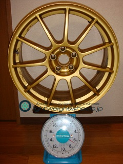 ASSO INTERNATIONAL Partire 17inch 7.5J offset+35mm PCD98mm-5H 重量計測画像