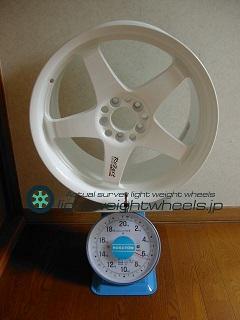 DUNLOP Rozest SS-01 COMPETITION 17inch 8.5J offset+50mm PCD100mm-5H 重量計測画像